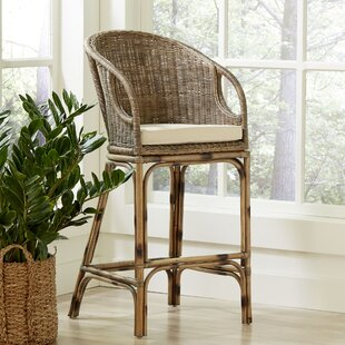Birch Lane™ Augustine Rattan Bar Stool