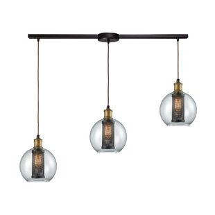 McEwan Industrial 3-Light Cluster Pendant by 17 Stories