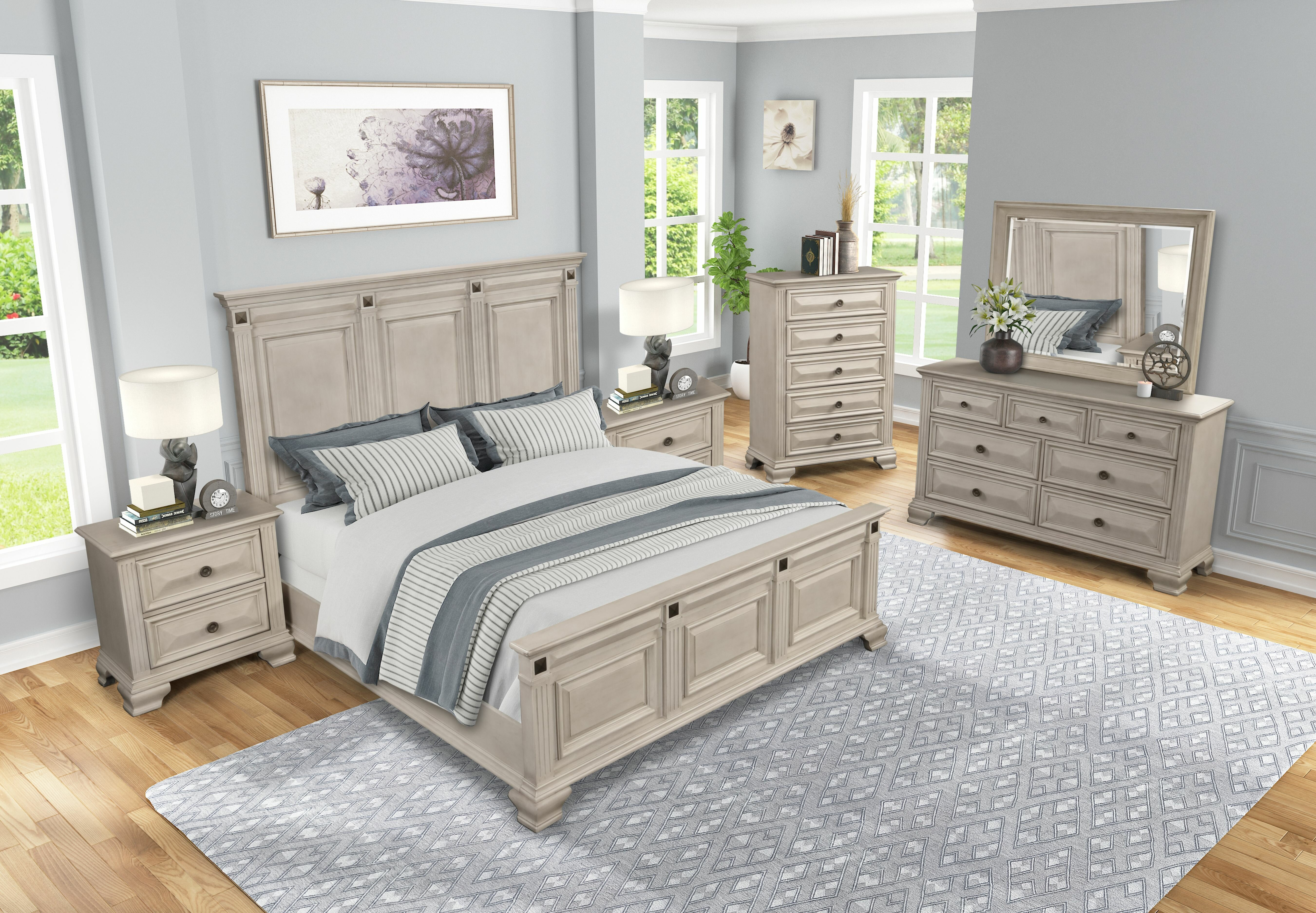 Quebec Solid Wood Standard 8 Piece Bedroom Set