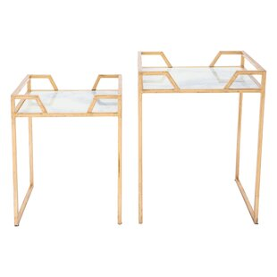 Brussels Faux Marble 2 Piece Nesting Tables