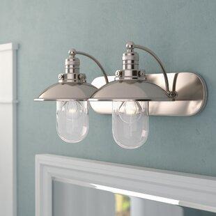 Beachcrest Home Emory 2-Light Vanity Light