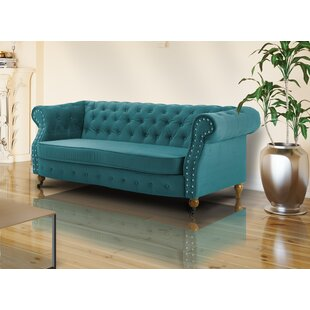 Lemasters 3 Seater Chesterfield Sofa By Ophelia & Co.