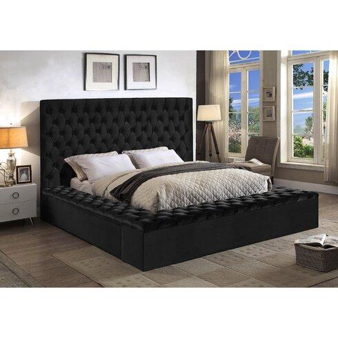 Ruthann Upholstered Storage Platform Bed  sc 1 st  Wayfair & Everly Quinn Ruthann Upholstered Storage Platform Bed | Wayfair