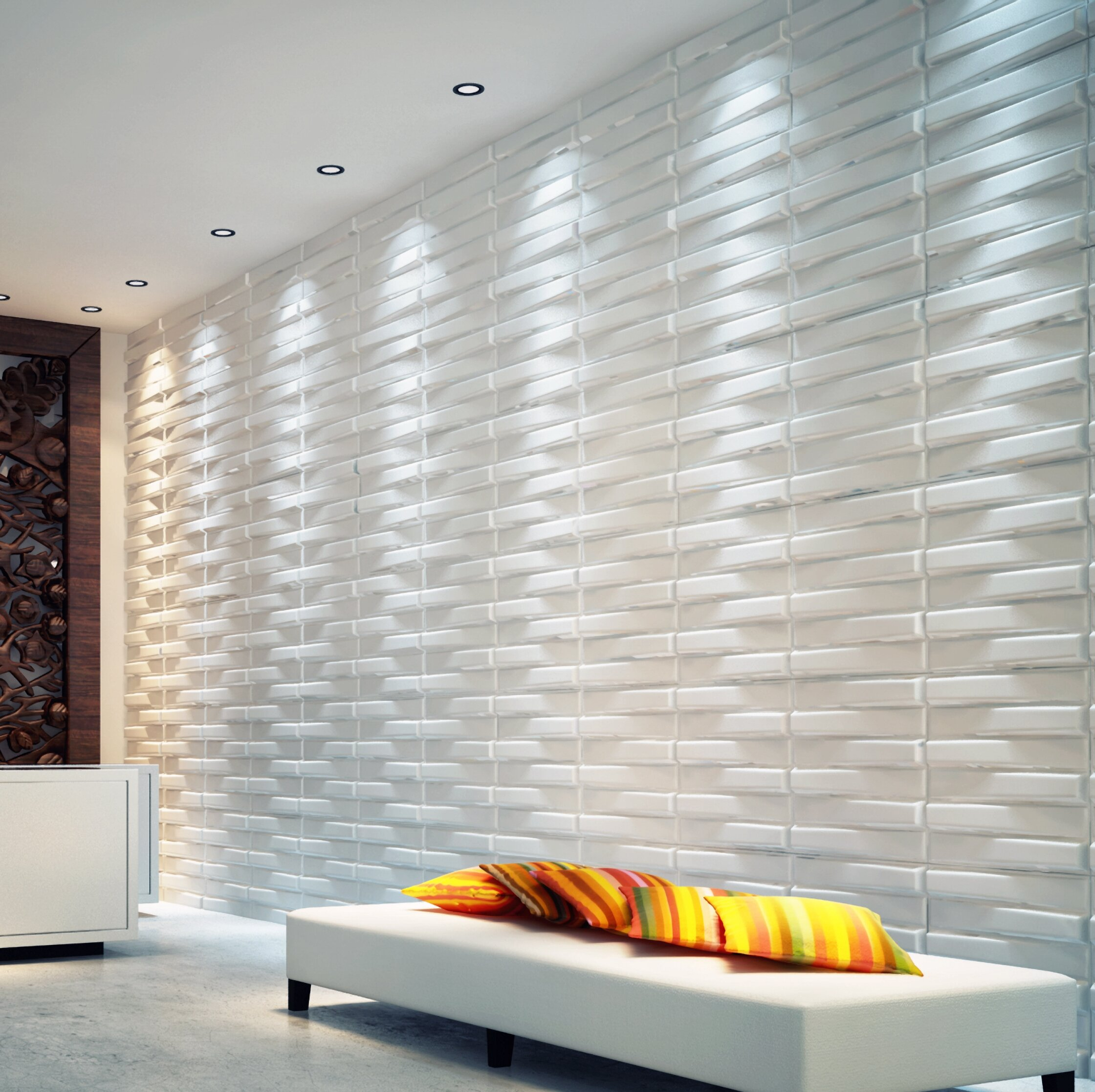 Orren Ellis Hinsdale 19 7 X 19 7 Vinyl Wall Paneling In White Wayfair