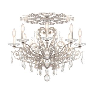 Schonbek Filigrae 8-Light Semi Flush Mount