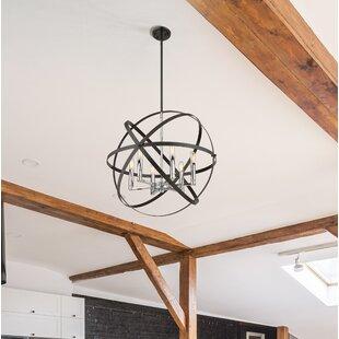 Wrought Studio Avers 6-Light Globe Chandelier