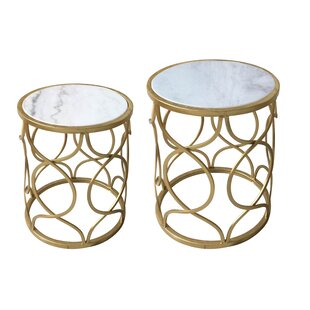 Dickey 2 Piece Nesting Tables by Mercer41