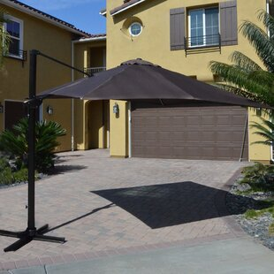 DHC Furniture 10' Square Cantilever Umbrella