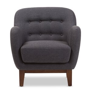Sophia Upholstered Button Tufted Armchair by Wholesale Interiors