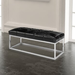 Wade Logan Arely Faux Leather Bench