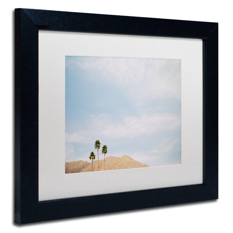 Trademark Art Three Palms Framed Photographic Print On Canvas Wayfair