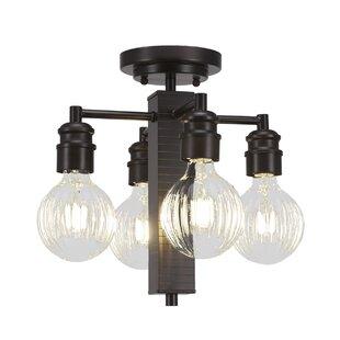 Ebern Designs Keon 4-Light Semi Flush Mount