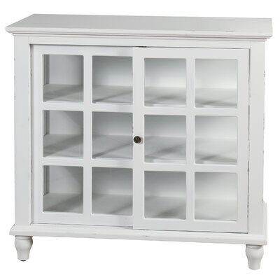 Archer Sliding 2 Door Accent Cabinet Color: Distressed White by August Grove