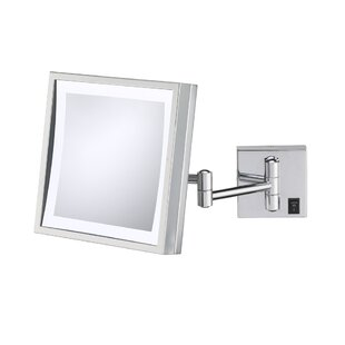 Great choice Single Sided Square 3x Magnification LED Wall Mirror (Hardwired) By Kimball & Young