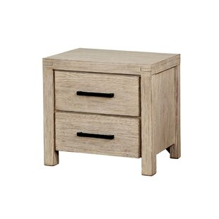 Millwood Pines Elim Solid Wood 2 Drawer Nightstand