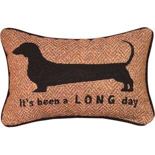 It's Been a Long Day Word Lumbar Pillow