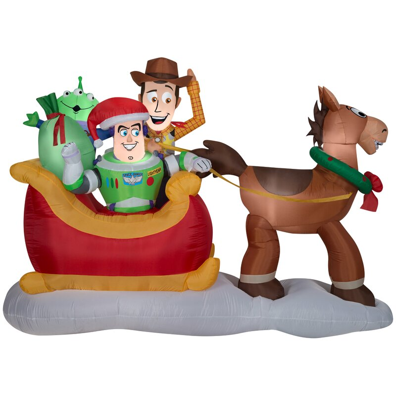 Gemmy Industries Airblown Toy Story with Sleigh Scene Disney Inflatable | Wayfair