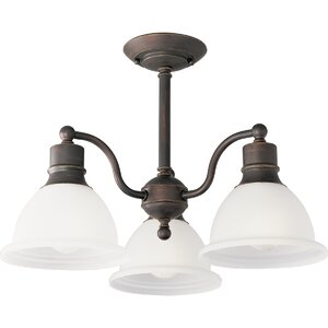 Gradall 3-Light Semi Flush Mount