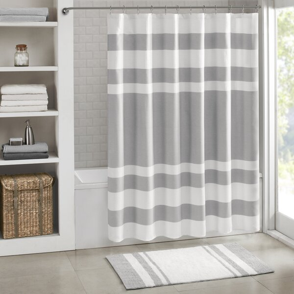 Silver Metallic Shower Curtain