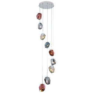 Cooley 9-Light LED Cluster Pendant by Ivy Bronx