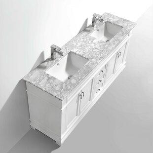 Yasmin 59 Wall-Mounted Double Bathroom Vanity Set