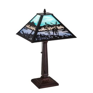 Boomery Deer at Lake 22 Table Lamp