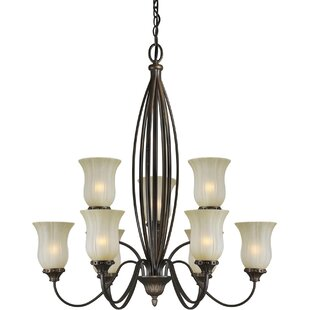 Vicini 9-Light Shaded Chandelier by Winston Porter