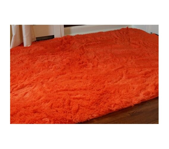 Ebern Designs Ledoux Plush Orange Area Rug Reviews Wayfair