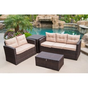 Rowley Patio Sofa Set with Cushions