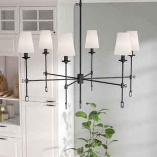 Laurel Foundry Modern Farmhouse Waldorf 6-Light Shaded Chandelier