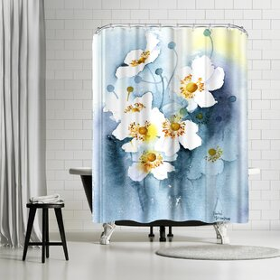 Rachel McNaughton Japanese Anemones Single Shower Curtain