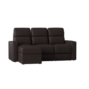 Red Barrel Studio Leather Home Theater Sofa (Row of 3) (Set of 3)