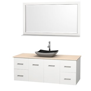 Centra 60 inch  Wall-Mounted Single Bathroom Vanity Set with Mirror