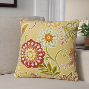 Golden Floral Outdoor Throw Pillow (Set of 2)