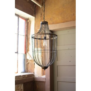 Wyman 1-Light Lantern Pendant by Bungalow..