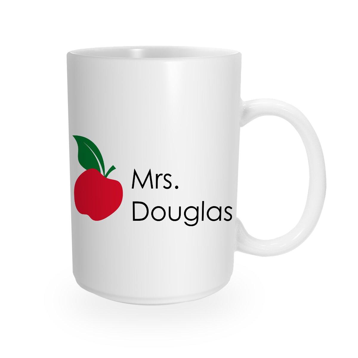 Trinx Custom Teacher S Apple Coffee Mug Wayfair