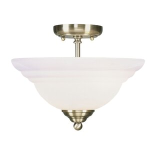Brunette 2-Light Semi Flush Mount by Alcott Hill