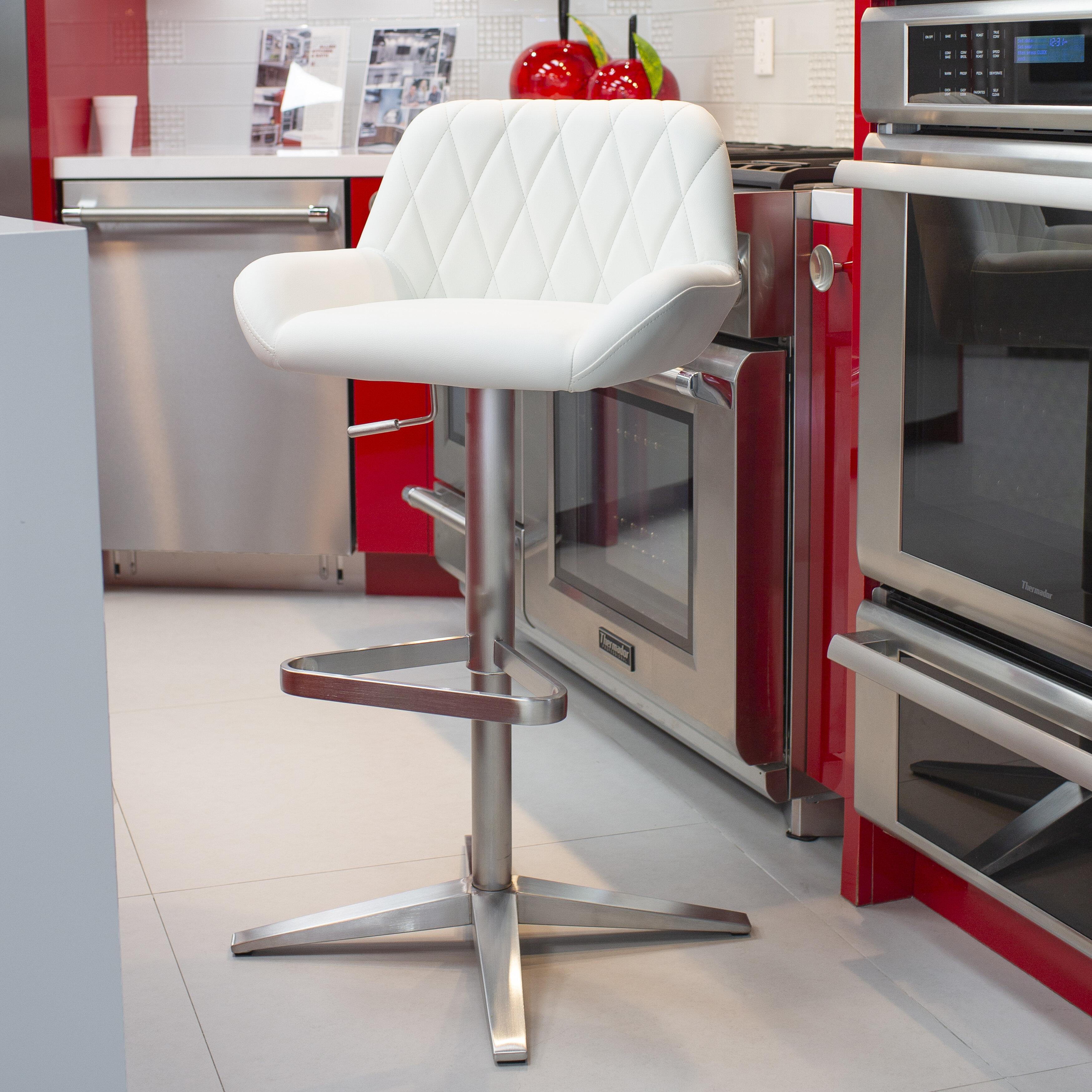 Awesome Dicarlo Adjustable Height Swivel Bar Stool Bralicious Painted Fabric Chair Ideas Braliciousco