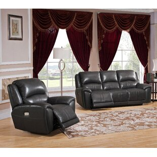 Mikel Reclining 2 Piece Leather Living Room Set