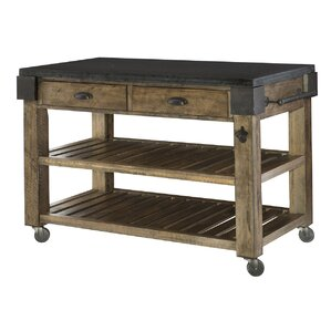Shaan Kitchen Island with Granite by 17 S..