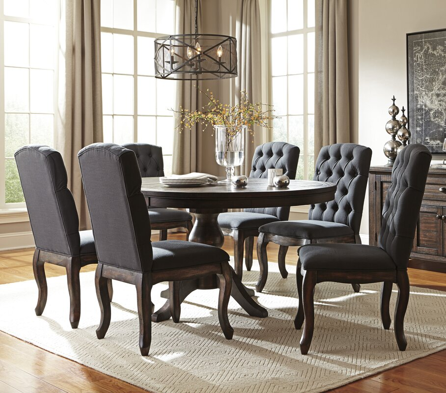 7 Piece Dining Set ~ Loon peak baxter piece dining set reviews wayfair