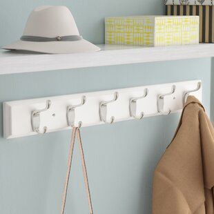 Rail Wall Mounted Coat Rack by Rebrilliant