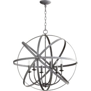 Willa Arlo Interiors Dian 6-Light Globe Chandelier