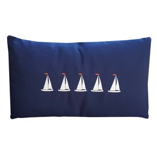 Sailboats Lumbar Pillow