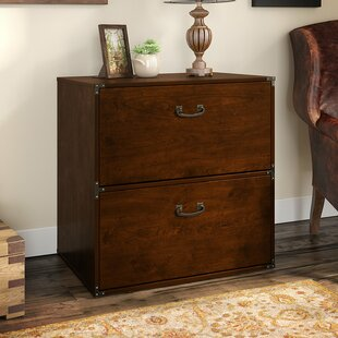 Ironworks 2-Drawer Lateral File by Kathy Ireland Home Bush Furniture Cool