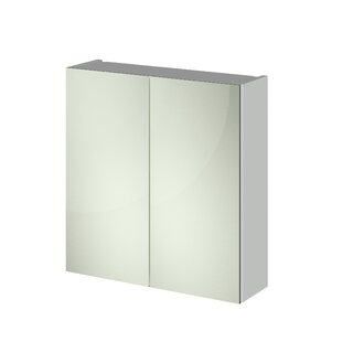 80cm X 71.5cm Surface Mount Mirror Cabinet By Hudson Reed
