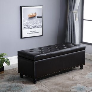 Velez Rectangular Tufted Storage Ottoman