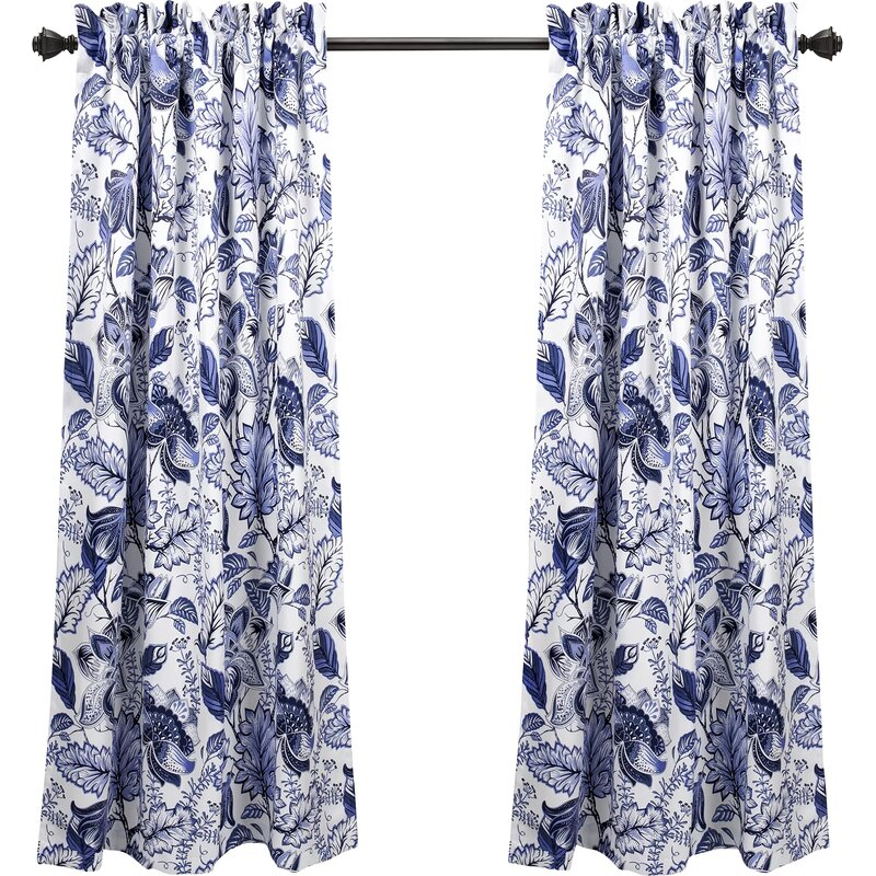 15 best blue and white curtains