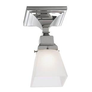 Alcott Hill Schaefferstown 1-Light Semi Flush Mount with Shade