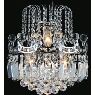 Chandelier wall sconce wayfair amanda 3 light crystal chandelier aloadofball Image collections